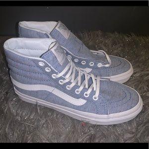 New Vans Sk8 Hi Slim Speckle Jersey Blue Womens 5